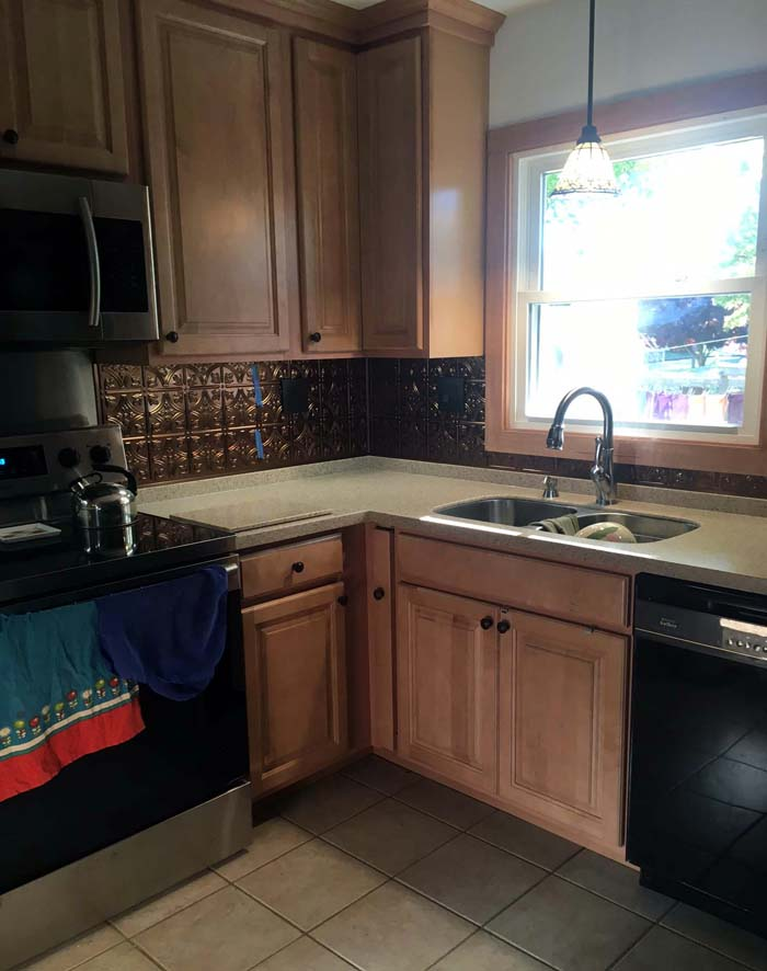 Commercial Stove Stainless Steel Hood Marble Countertops Kitchen Restoration Tile Specialist Tile Mosaic Stove Backsplash